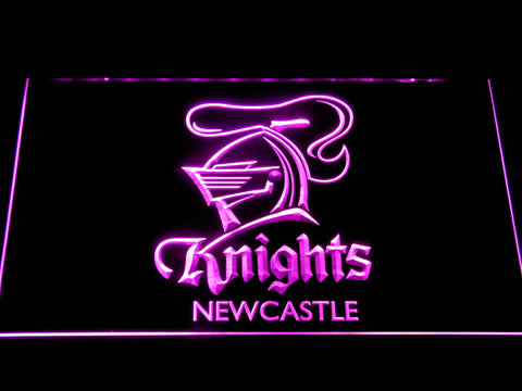 Image of Newcastle Knights LED Neon Sign - Purple - SafeSpecial