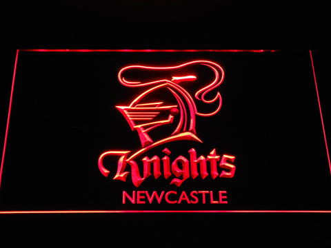 Image of Newcastle Knights LED Neon Sign - Red - SafeSpecial