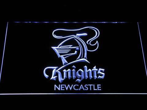 Image of Newcastle Knights LED Neon Sign - White - SafeSpecial