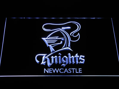 Newcastle Knights LED Neon Sign - White - SafeSpecial