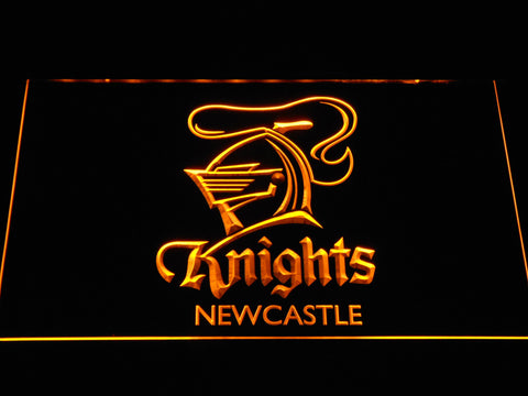 Image of Newcastle Knights LED Neon Sign - Yellow - SafeSpecial