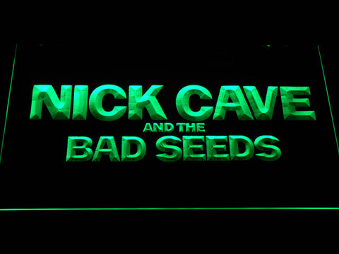 Image of Nick Cave & the Bad Seeds LED Neon Sign - Green - SafeSpecial