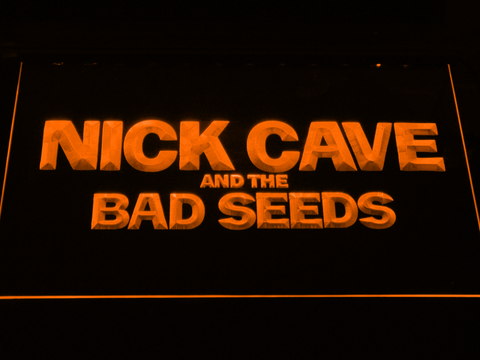Image of Nick Cave & the Bad Seeds LED Neon Sign - Orange - SafeSpecial