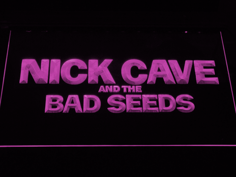 Image of Nick Cave & the Bad Seeds LED Neon Sign - Purple - SafeSpecial