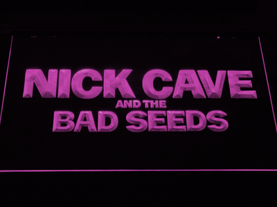 Nick Cave & the Bad Seeds LED Neon Sign - Purple - SafeSpecial