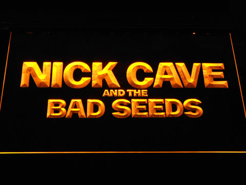 Image of Nick Cave & the Bad Seeds LED Neon Sign - Yellow - SafeSpecial