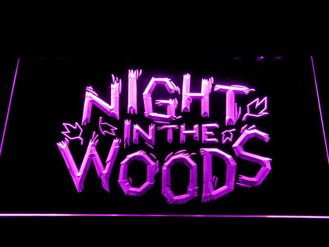 Night in the Woods LED Neon Sign - Purple - SafeSpecial