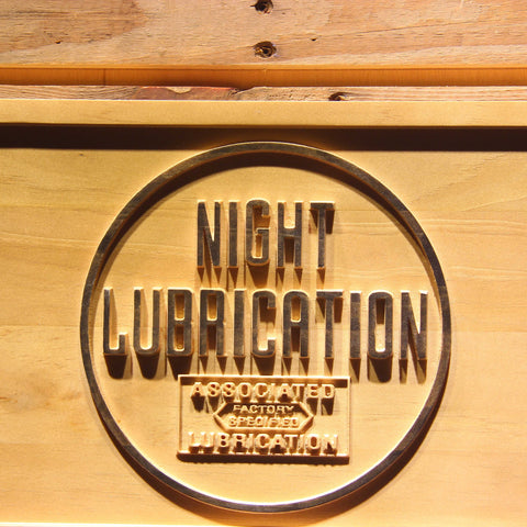 Image of Night Lubrication Wooden Sign - - SafeSpecial