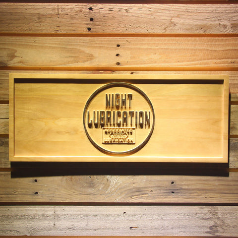 Image of Night Lubrication Wooden Sign - Small - SafeSpecial