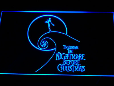 Nightmare Before Christmas Cliff LED Neon Sign - Blue - SafeSpecial