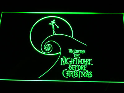 Nightmare Before Christmas Cliff LED Neon Sign - Green - SafeSpecial