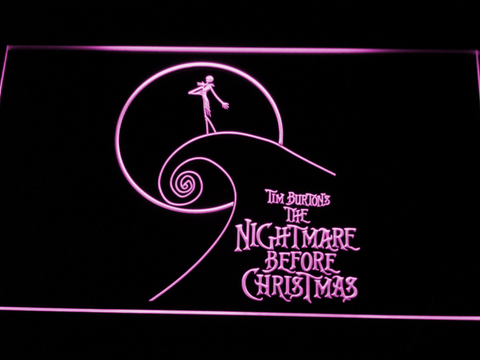 Image of Nightmare Before Christmas Cliff LED Neon Sign - Purple - SafeSpecial