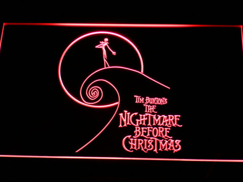 Image of Nightmare Before Christmas Cliff LED Neon Sign - Red - SafeSpecial