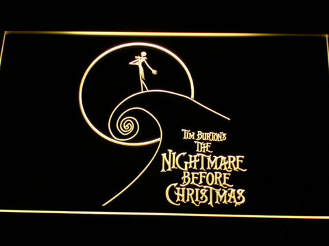 Image of Nightmare Before Christmas Cliff LED Neon Sign - Yellow - SafeSpecial