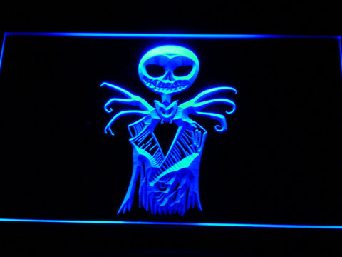 Image of Nightmare Before Christmas Jack Skellington LED Neon Sign - Blue - SafeSpecial