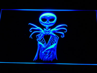 Nightmare Before Christmas Jack Skellington LED Neon Sign - Blue - SafeSpecial