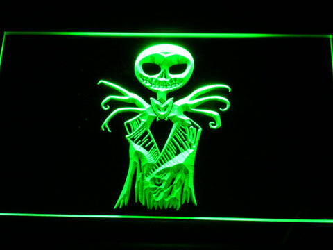 Image of Nightmare Before Christmas Jack Skellington LED Neon Sign - Green - SafeSpecial