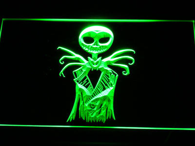 Nightmare Before Christmas Jack Skellington LED Neon Sign - Green - SafeSpecial