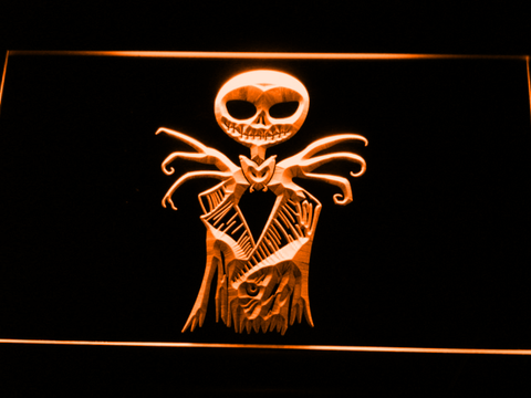 Image of Nightmare Before Christmas Jack Skellington LED Neon Sign - Orange - SafeSpecial