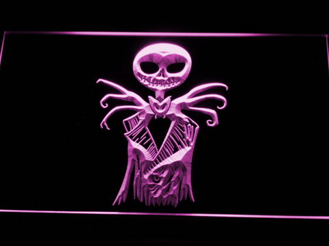 Image of Nightmare Before Christmas Jack Skellington LED Neon Sign - Purple - SafeSpecial