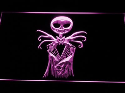 Nightmare Before Christmas Jack Skellington LED Neon Sign - Purple - SafeSpecial