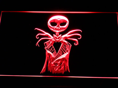 Image of Nightmare Before Christmas Jack Skellington LED Neon Sign - Red - SafeSpecial