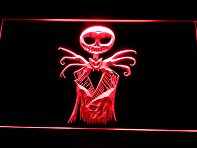 Nightmare Before Christmas Jack Skellington LED Neon Sign - Red - SafeSpecial