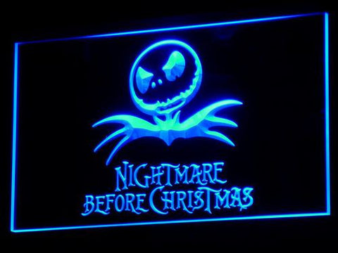 Image of Nightmare Before Christmas LED Neon Sign - Blue - SafeSpecial