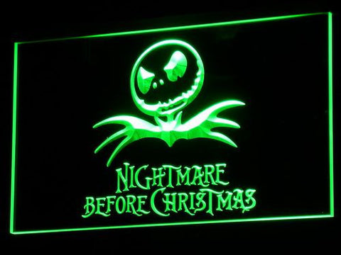 Image of Nightmare Before Christmas LED Neon Sign - Green - SafeSpecial