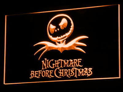 Nightmare Before Christmas LED Neon Sign - Orange - SafeSpecial