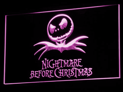 Nightmare Before Christmas LED Neon Sign - Purple - SafeSpecial