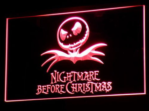 Image of Nightmare Before Christmas LED Neon Sign - Red - SafeSpecial