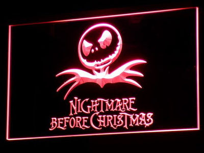 Nightmare Before Christmas LED Neon Sign - Red - SafeSpecial