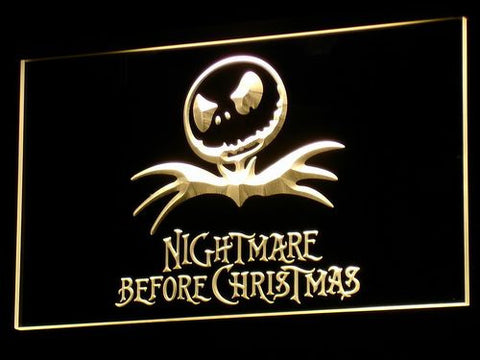 Image of Nightmare Before Christmas LED Neon Sign - Yellow - SafeSpecial