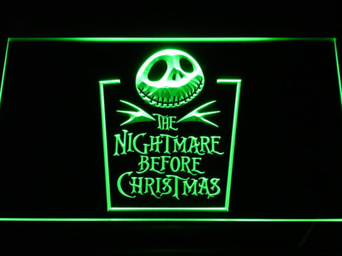 Image of Nightmare Before Christmas Tombstone LED Neon Sign - Green - SafeSpecial