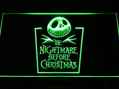 Nightmare Before Christmas Tombstone LED Neon Sign - Green - SafeSpecial