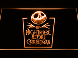 Nightmare Before Christmas Tombstone LED Neon Sign - Orange - SafeSpecial