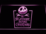 Nightmare Before Christmas Tombstone LED Neon Sign - Purple - SafeSpecial