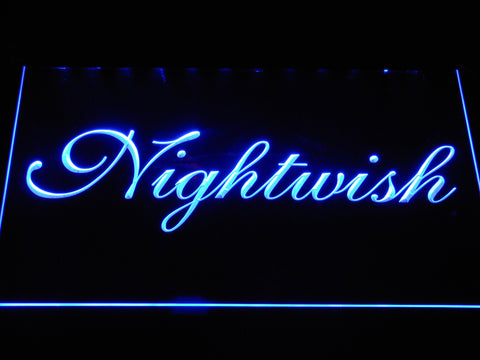 Nightwish LED Neon Sign - Blue - SafeSpecial