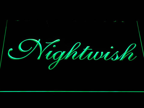 Nightwish LED Neon Sign - Green - SafeSpecial