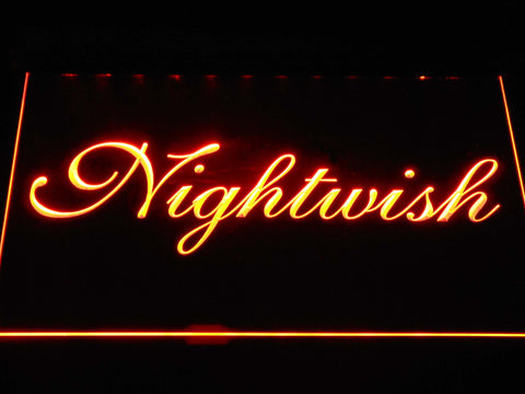 Nightwish LED Neon Sign - Orange - SafeSpecial