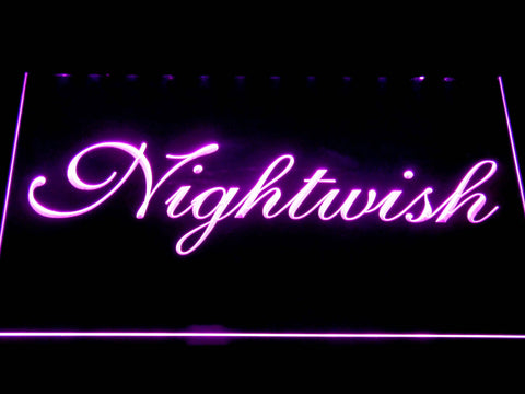 Nightwish LED Neon Sign - Purple - SafeSpecial