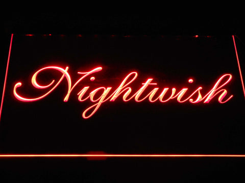 Nightwish LED Neon Sign - Red - SafeSpecial