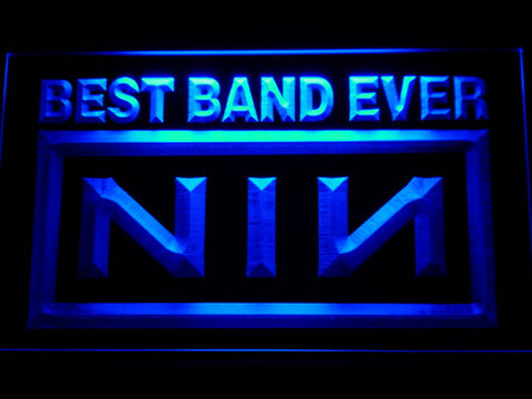 Nine Inch Nails Best Band Ever LED Neon Sign - Blue - SafeSpecial