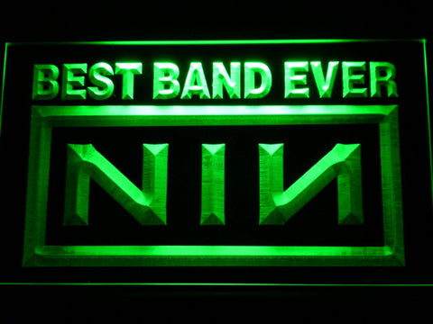Nine Inch Nails Best Band Ever LED Neon Sign - Green - SafeSpecial