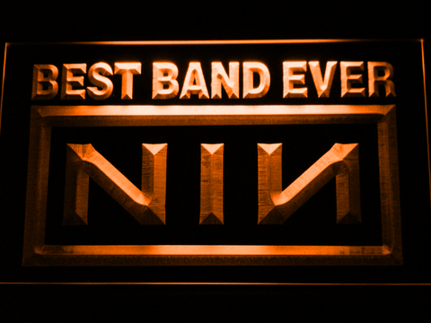 Nine Inch Nails Best Band Ever LED Neon Sign - Orange - SafeSpecial