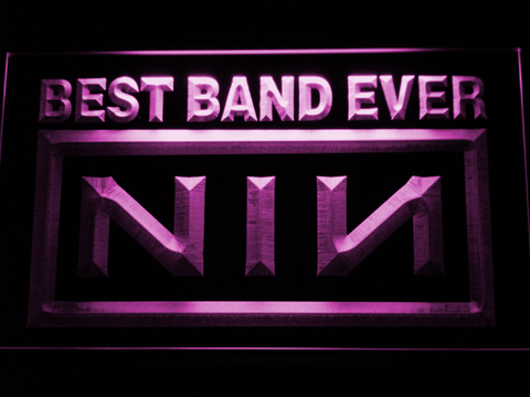 Nine Inch Nails Best Band Ever LED Neon Sign - Purple - SafeSpecial