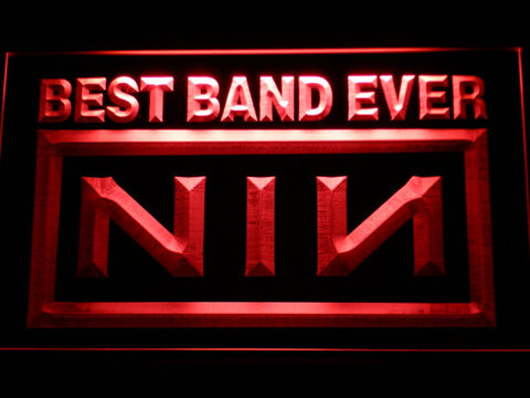 Nine Inch Nails Best Band Ever LED Neon Sign - Red - SafeSpecial
