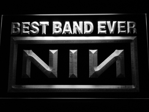 Image of Nine Inch Nails Best Band Ever LED Neon Sign - White - SafeSpecial
