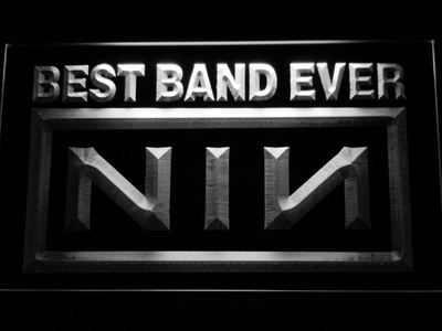 Nine Inch Nails Best Band Ever LED Neon Sign - White - SafeSpecial